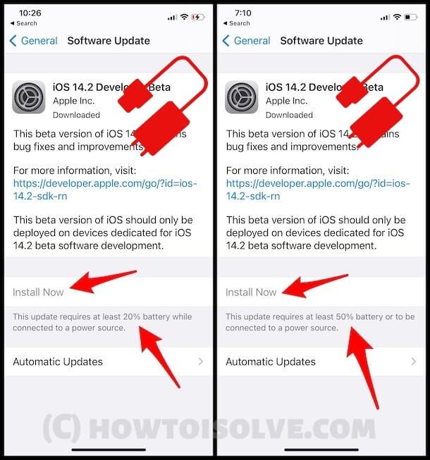 Исправить iOS 14. Загрузите и установите серого цвета на iPhone / iPadOS 14.3.