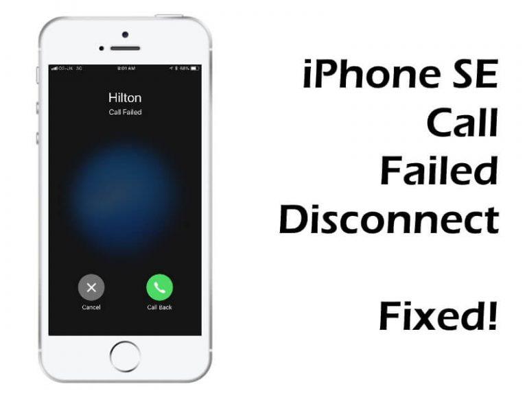 Проблемы с вызовами iPhone SE, ошибка при сбое вызова, невозможно совершить исходящие вызовы