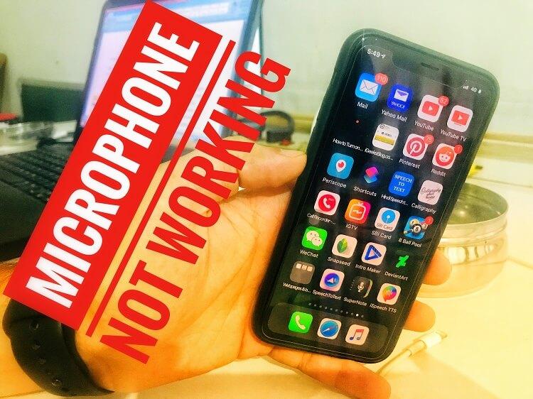 Микрофон iPhone XS Max не работает, приглушенный голос: iPhone XR, XS