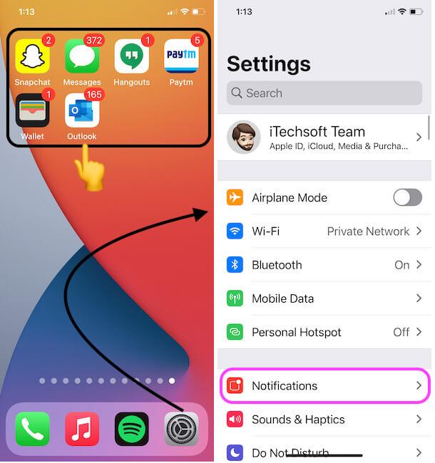 Исправить уведомление приложения iPhone не уйдет с значка или экрана блокировки