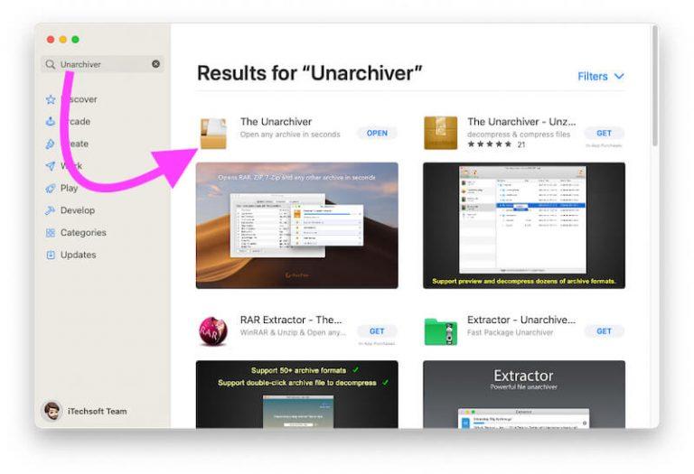 Как распаковать и открыть файл RAR на Mac — macOS Big Sur / Catalina