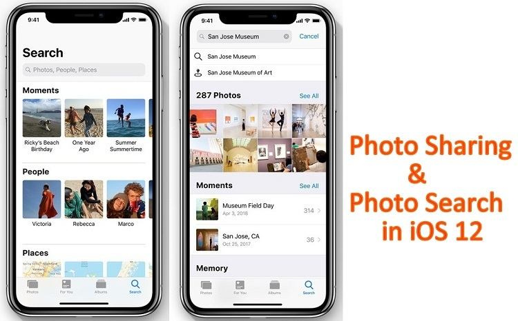 Используйте общий доступ к фотографиям и поиск фотографий в iOS 14 / 13.7 на iPhone, iPad