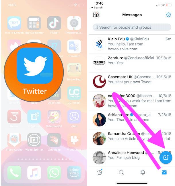 Как отправить личное сообщение в Twitter на iPhone, iPad в 2021 году