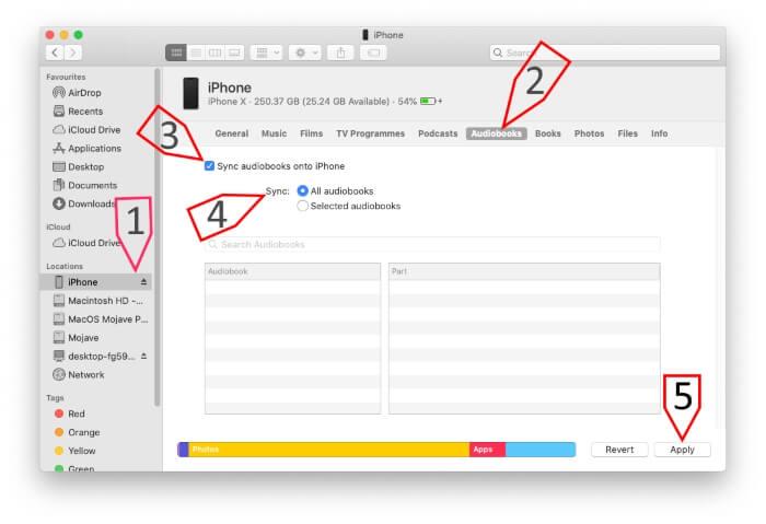 Как удалить / синхронизировать / перенести аудиокниги на iPhone с Mac, MacBook