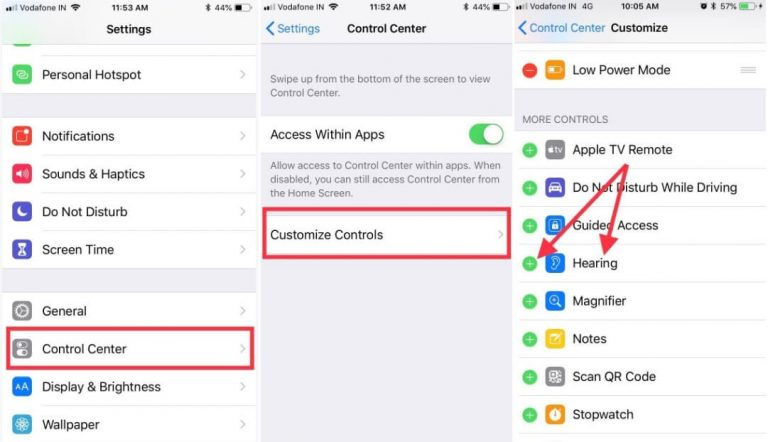 Как использовать Live Listen с AirPods в iOS 14 на iPhone 12/11 / XS Max / XR