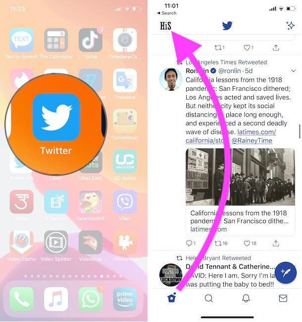 Добавление и переключение учетных записей Twitter в браузере iPhone, iPad, Mac и ПК