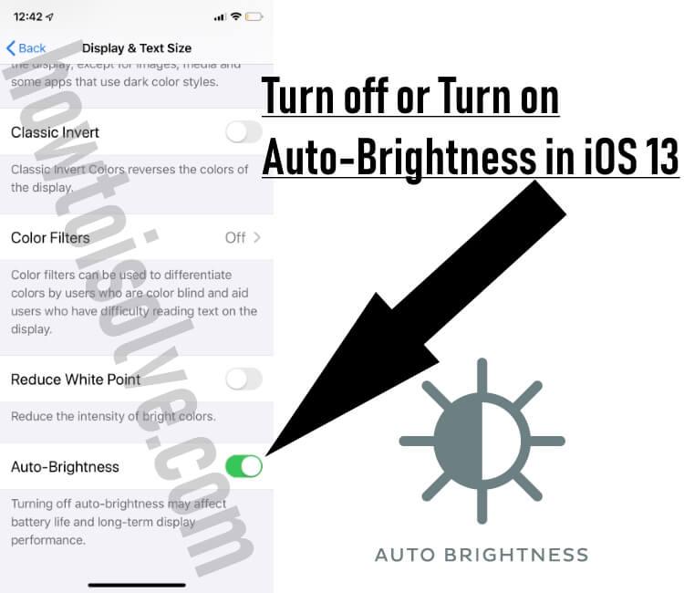 Как отключить автоматическую яркость на iPhone 12 (Pro, Max), 11Pro