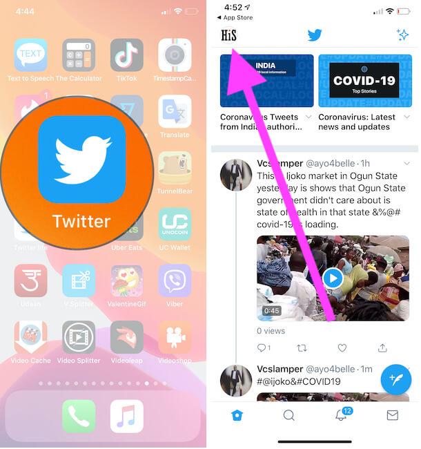 Как изменить размер шрифта / текста в приложении Twitter на iPhone / iPad