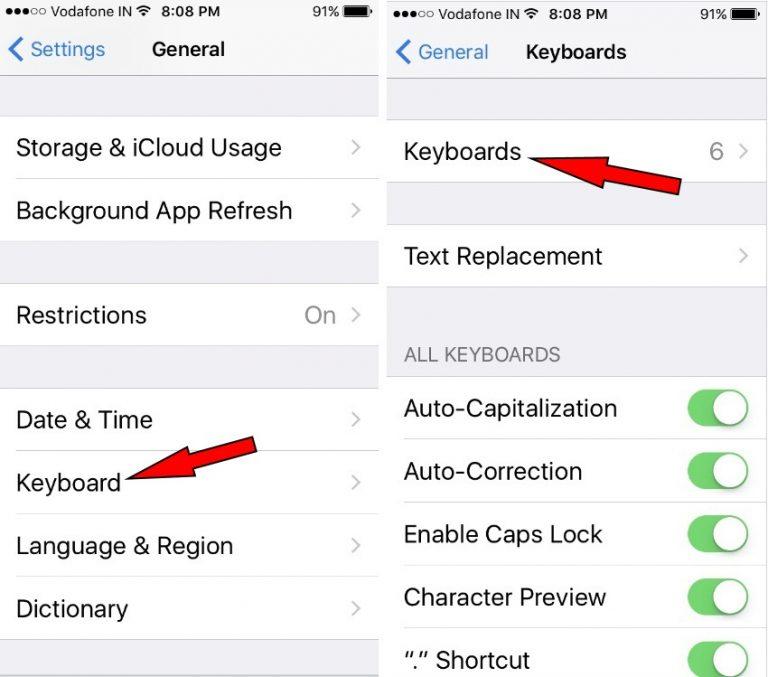 Как добавить стороннюю клавиатуру на iPhone 12Pro / Max, 11ProMax, XR