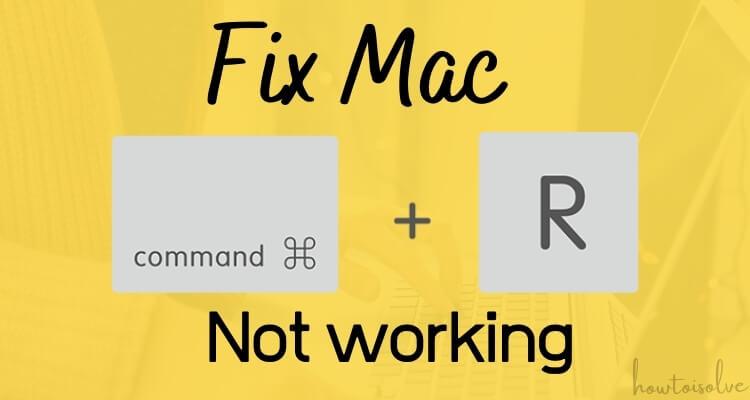 Command + R не работает на Mac, MacBook: Руководство по устранению неполадок