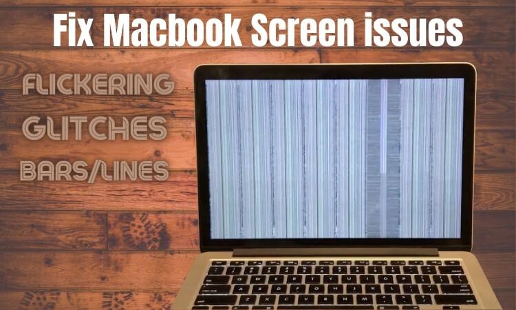Мерцание экрана Retina MacBook Pro, странные цвета, глюки, полосы / линии