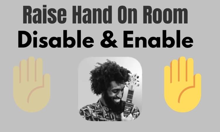 Включение / выключение Поднять руку на клубную комнату в качестве модератора