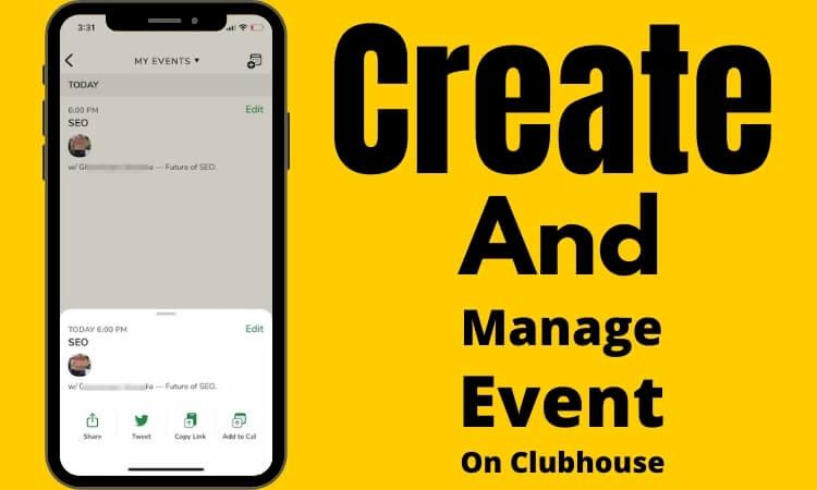 Как создать событие в Clubhouse, поделиться и удалить событие в Clubhouse!