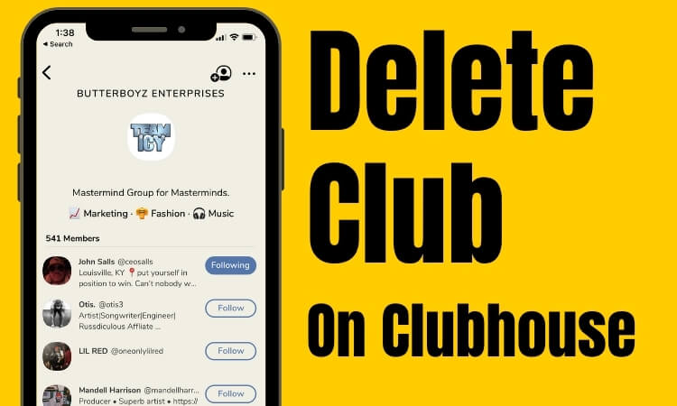 Как удалить клуб в социальном приложении Clubhouse, редактировать и управлять