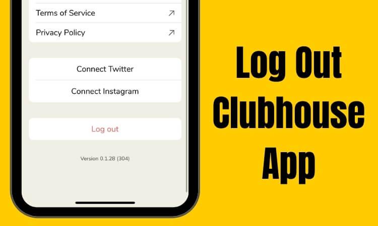 Как выйти из приложения Clubhouse: Drop-in Audio Social App