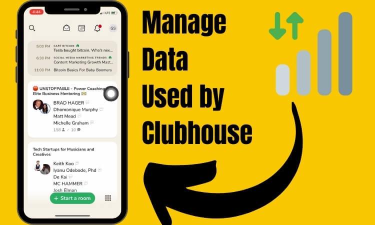 Управление настройками сотовых данных приложения Clubhouse на телефоне