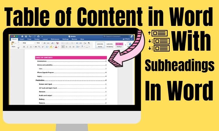 Создание оглавления в Microsoft Word 365: Mac и Windows