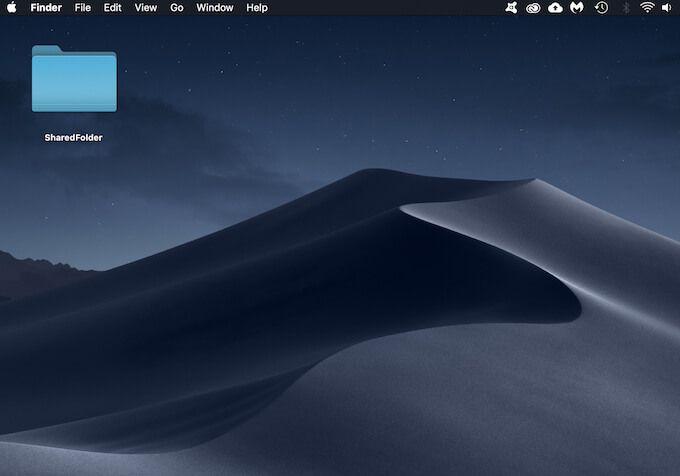 Как создать общую папку в macOS